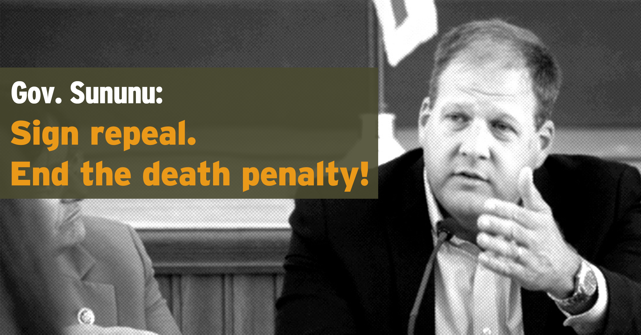 Governor Sununu: Sign repeal. End the death penalty!